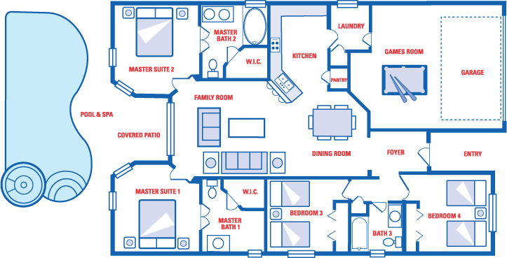 Enlarged Skylarks Villa Floor Plan